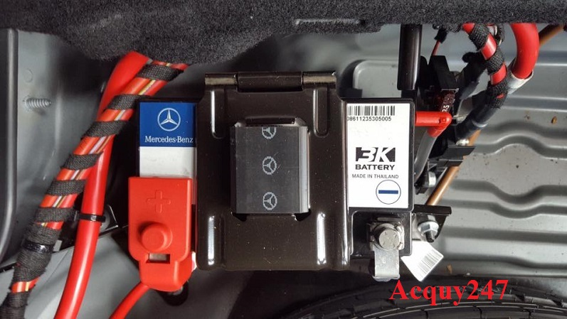 Ắc quy phụ lắp cho xe Mercedes
